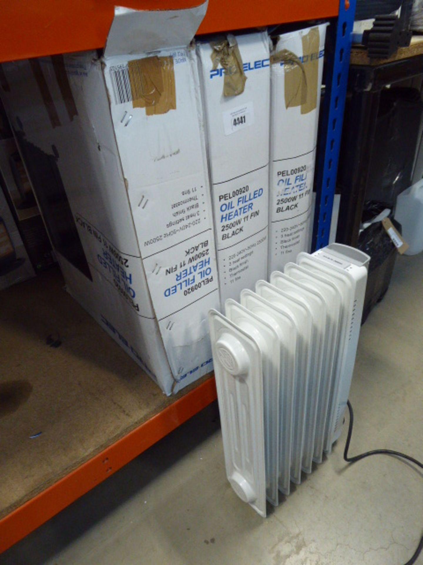 4 Pro-Elec oil filled radiators
