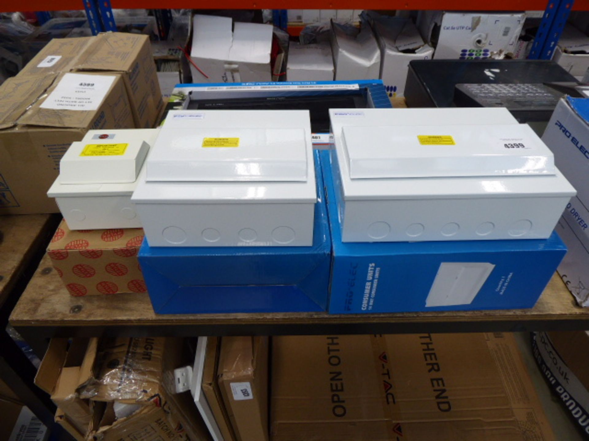2 large and 1 small consumer units
