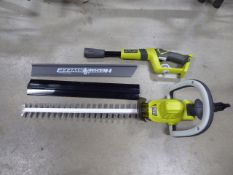 Ryobi battery powered hedge cutter (no battery, no charger)
