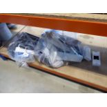 2 bags containing sockets, socket blocks, extension cables, lights, etc