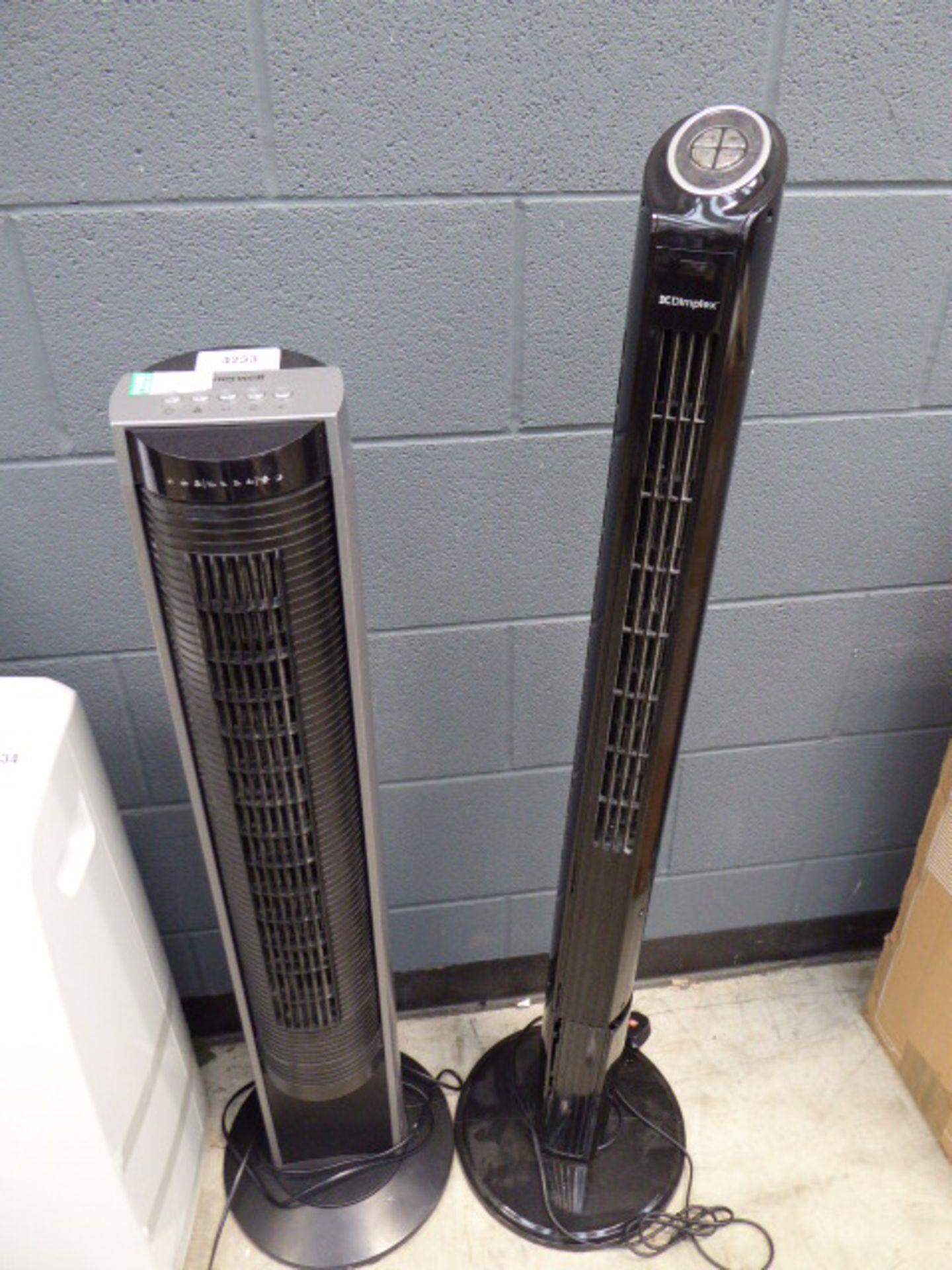 Honeywell and a Dimplex fan heater
