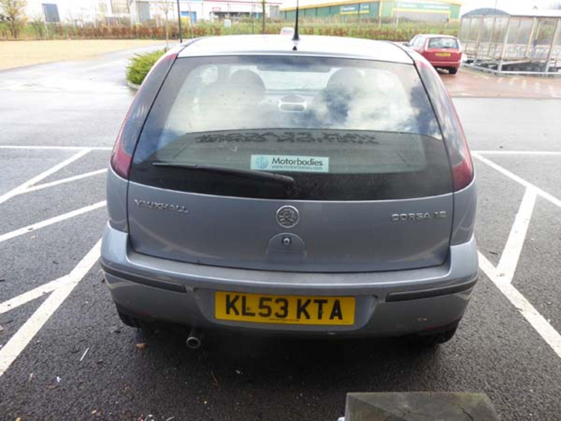 KL53 KTA (2003) Vauxhall Corsa Active 16V, 3 door hatchback, 1199cc, petrol, in silver, 39'044 - Image 12 of 12