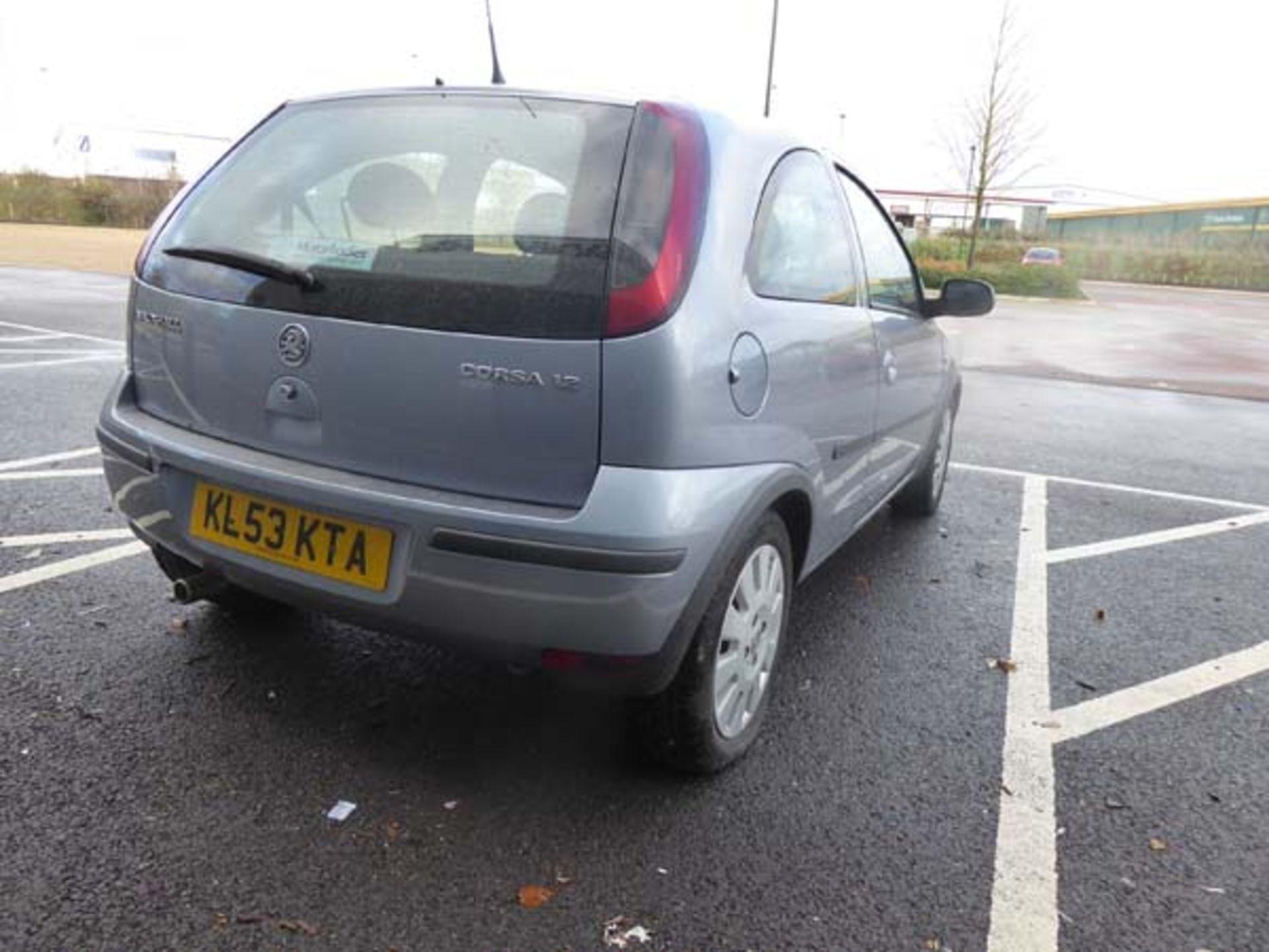 KL53 KTA (2003) Vauxhall Corsa Active 16V, 3 door hatchback, 1199cc, petrol, in silver, 39'044 - Image 4 of 12