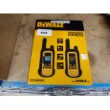 2 DeWalt walkie talkies