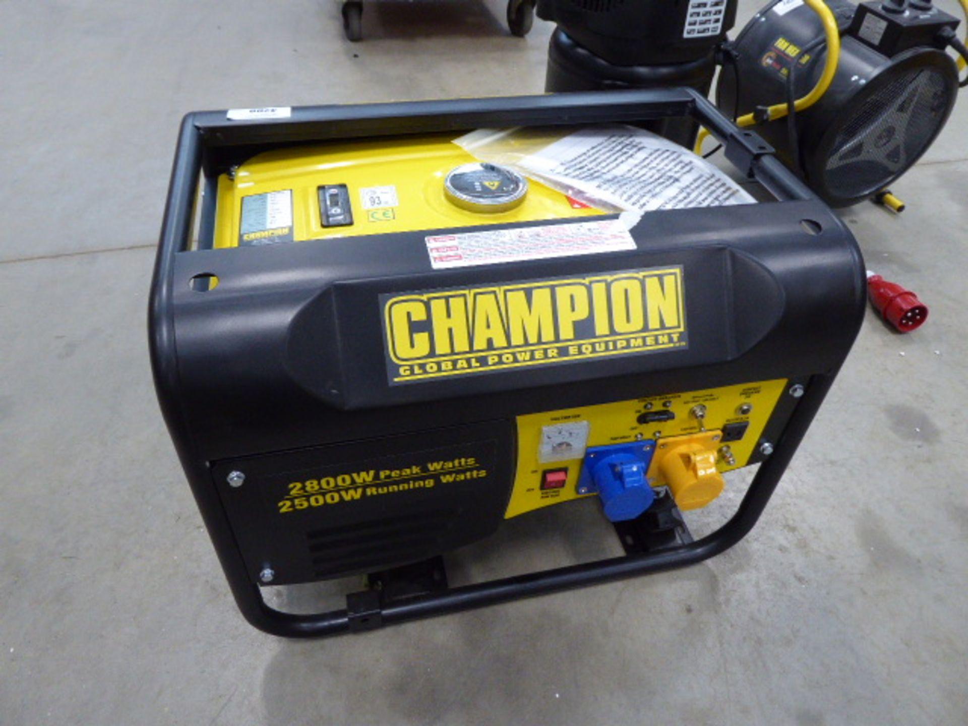Champion petrol powered generator