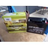 2 golf trolley batteries