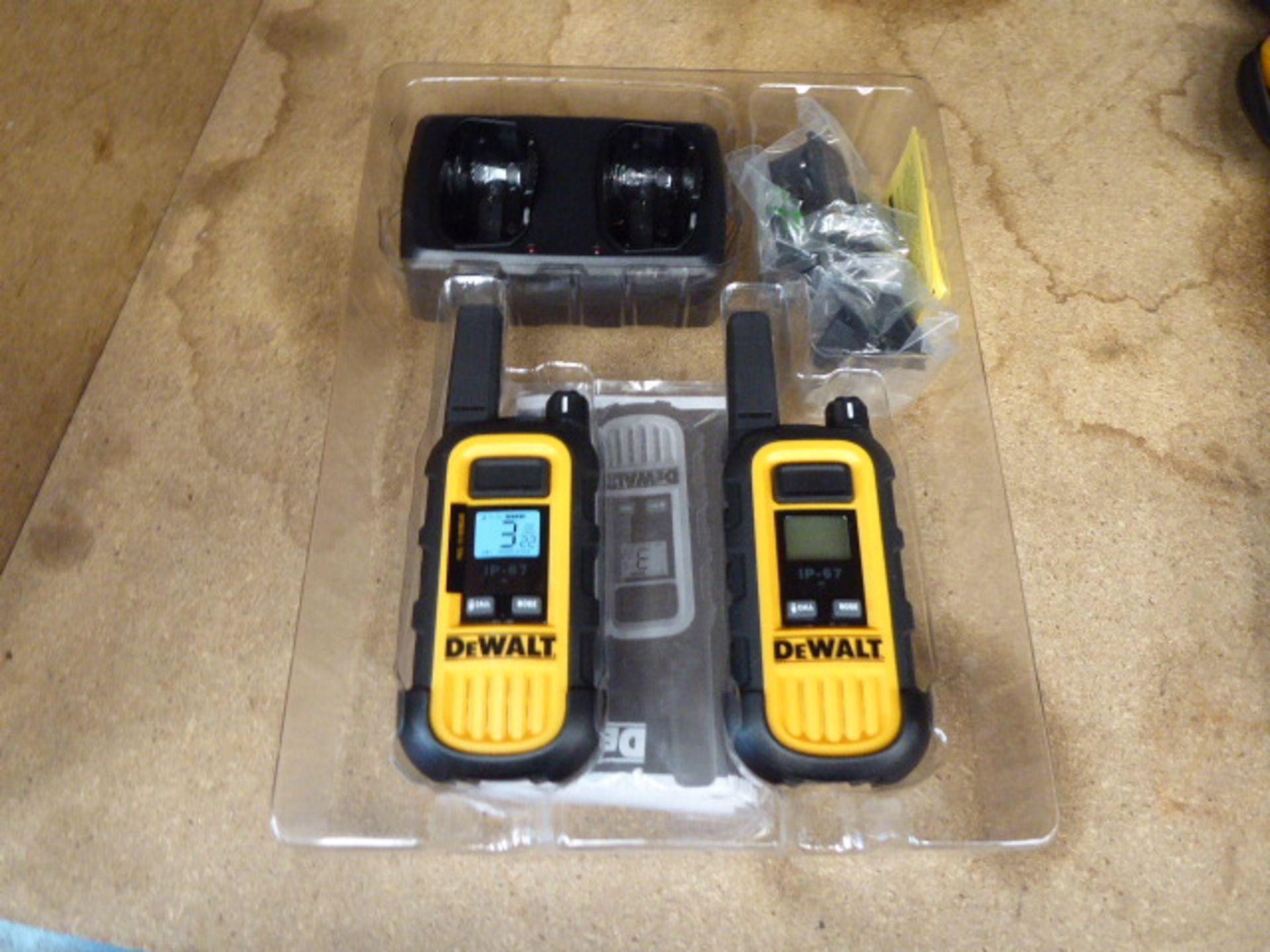 2 DeWalt walkie talkies - Image 2 of 2