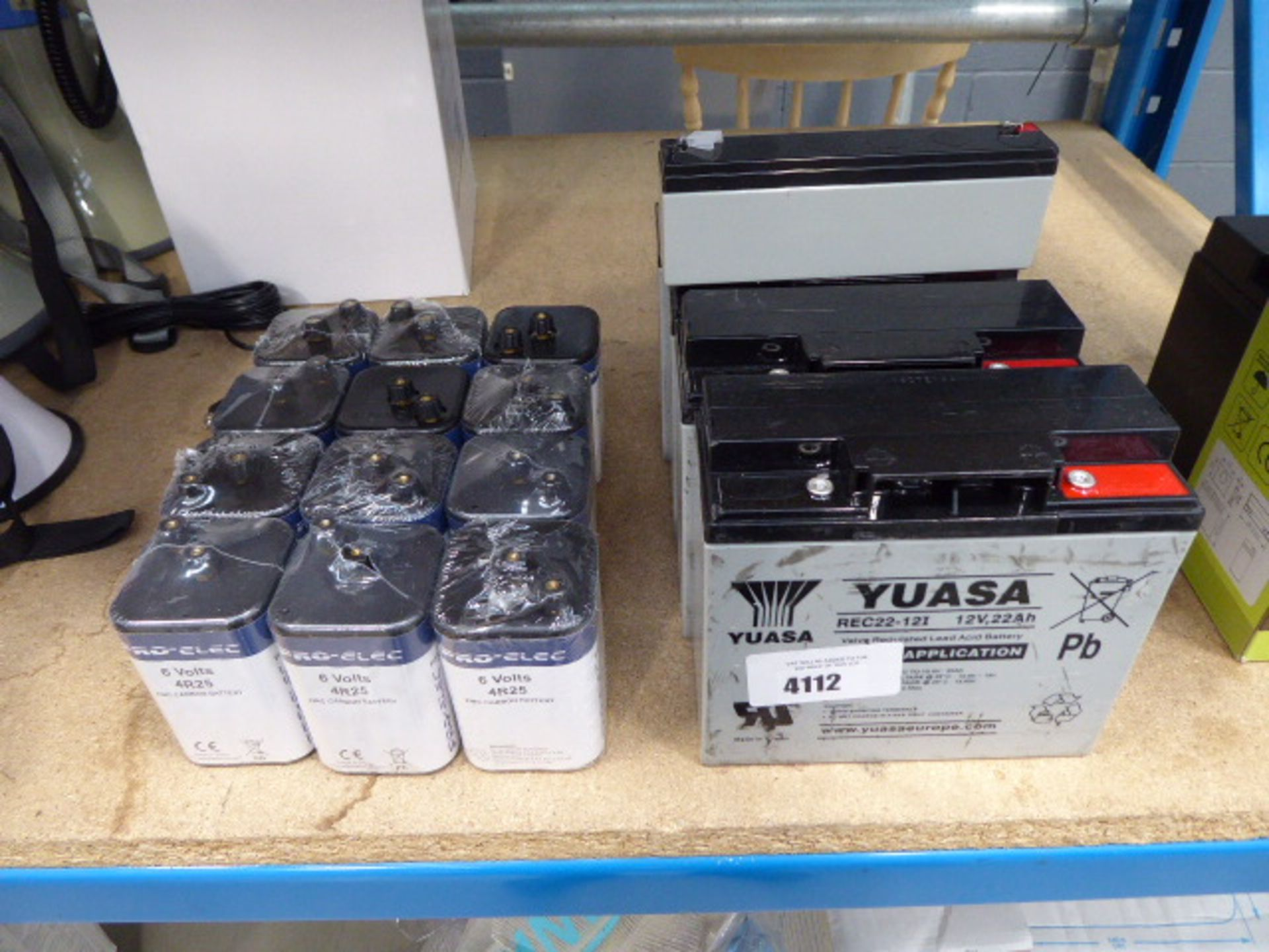 4 12 volt batteries and 12 6 volt batteries