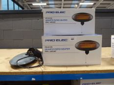 3 Pro-Elec Quartz patio heaters