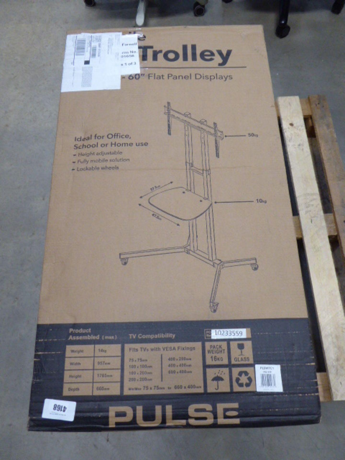 Pulse 60'' flat panel display rack (flatpack, boxed)