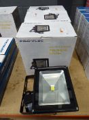 4 large Pro-Elec LED PIR floodlights