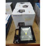 4 large Pro-Elec LED PIR floodlights