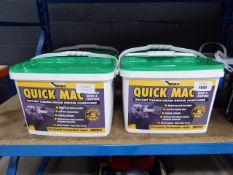 4 tubs of Quick Mac repair compound