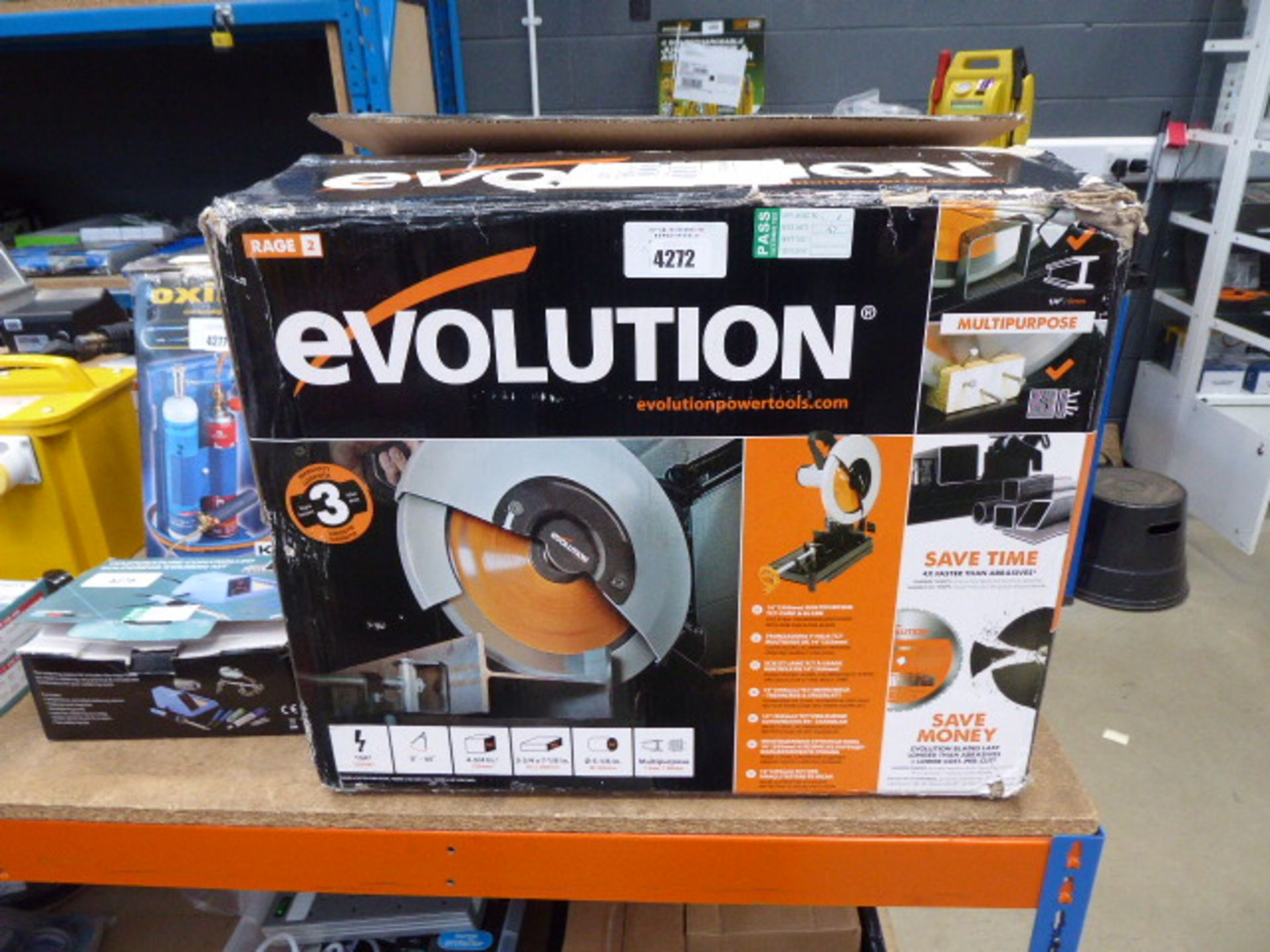 Boxed Evolution chopsaw