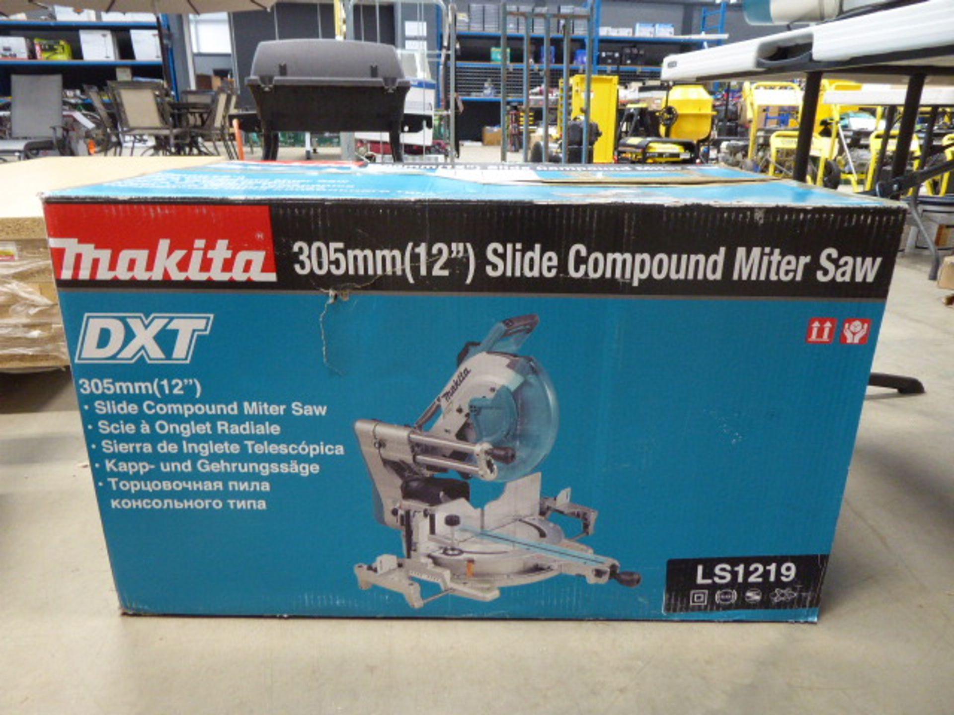 Makita 305mm slide compound mitre saw - Image 7 of 7