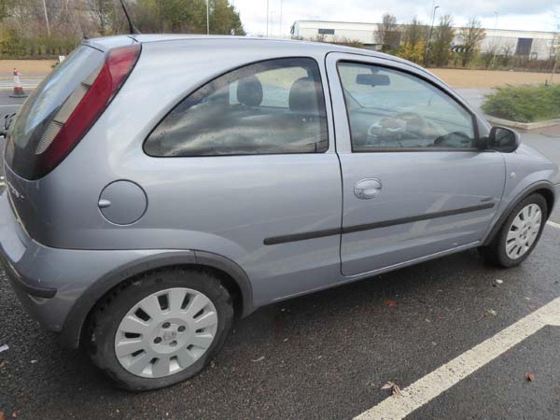 KL53 KTA (2003) Vauxhall Corsa Active 16V, 3 door hatchback, 1199cc, petrol, in silver, 39'044 - Image 11 of 12