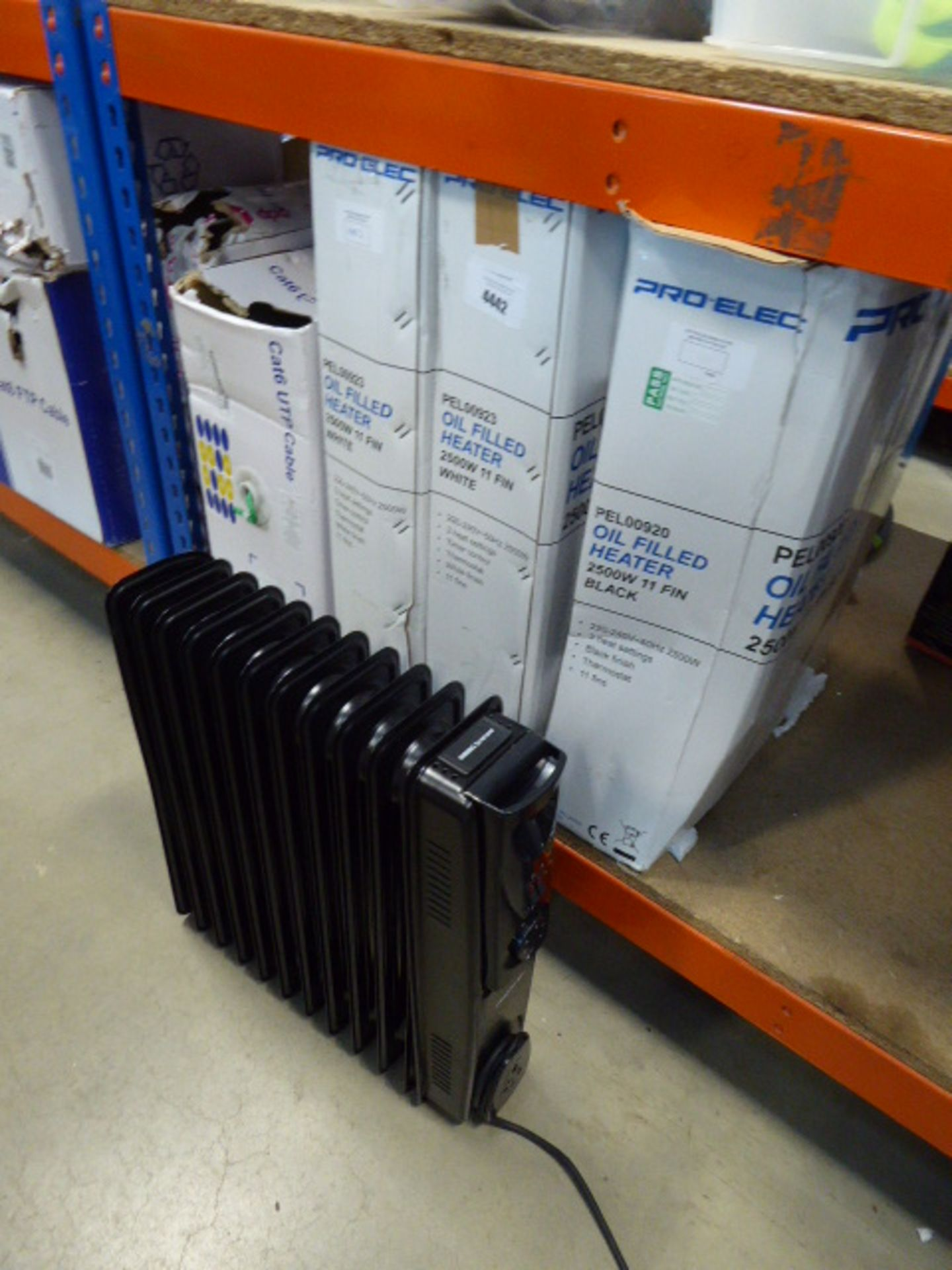 4 Pro-Elec oil filled radiators