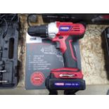 18v Duratool cordless drill with one battery and charger