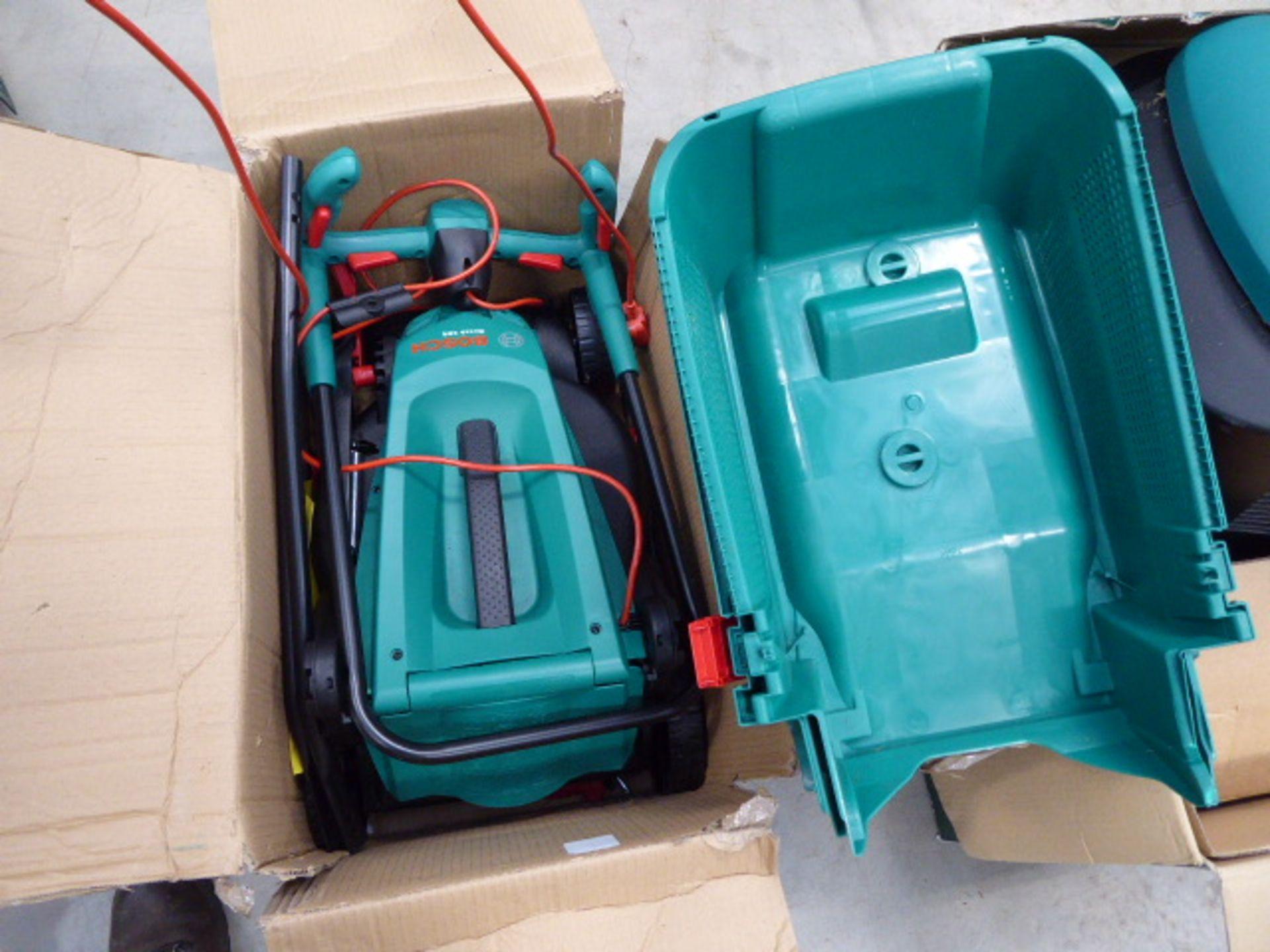Boxed Bosch electric Rotak lawnmower