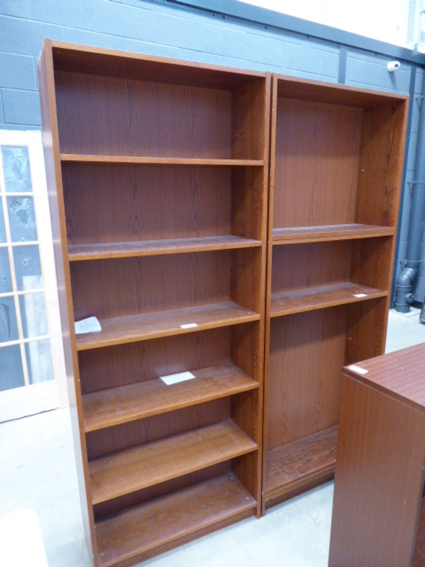 4153 - 2 wooden bookcases and a small darkwood bookcase - Image 2 of 3
