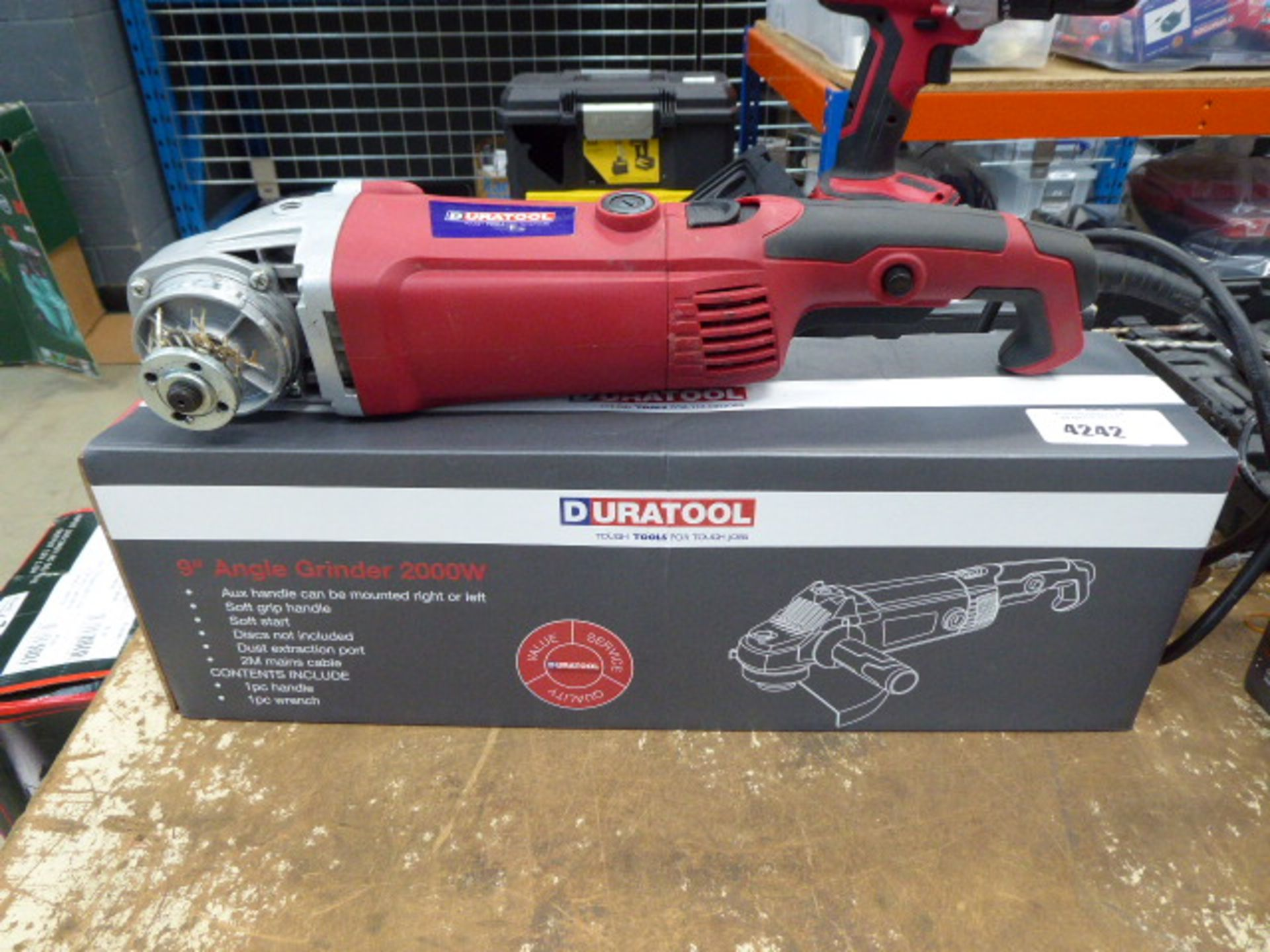 Boxed 9'' angle grinder