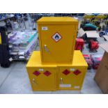 3 small chemical cabinets