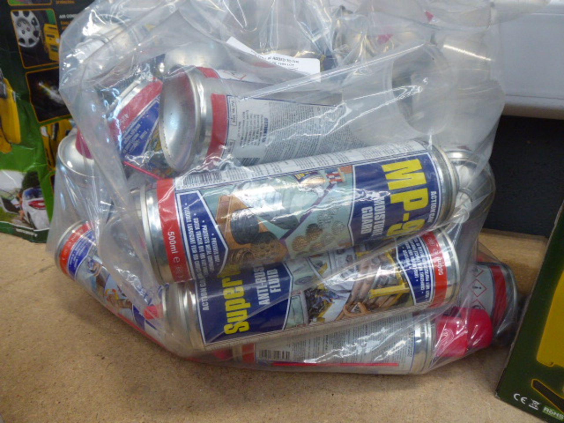 Bag of Moisture Guard anti-rust fluid and multi purpose lubricant