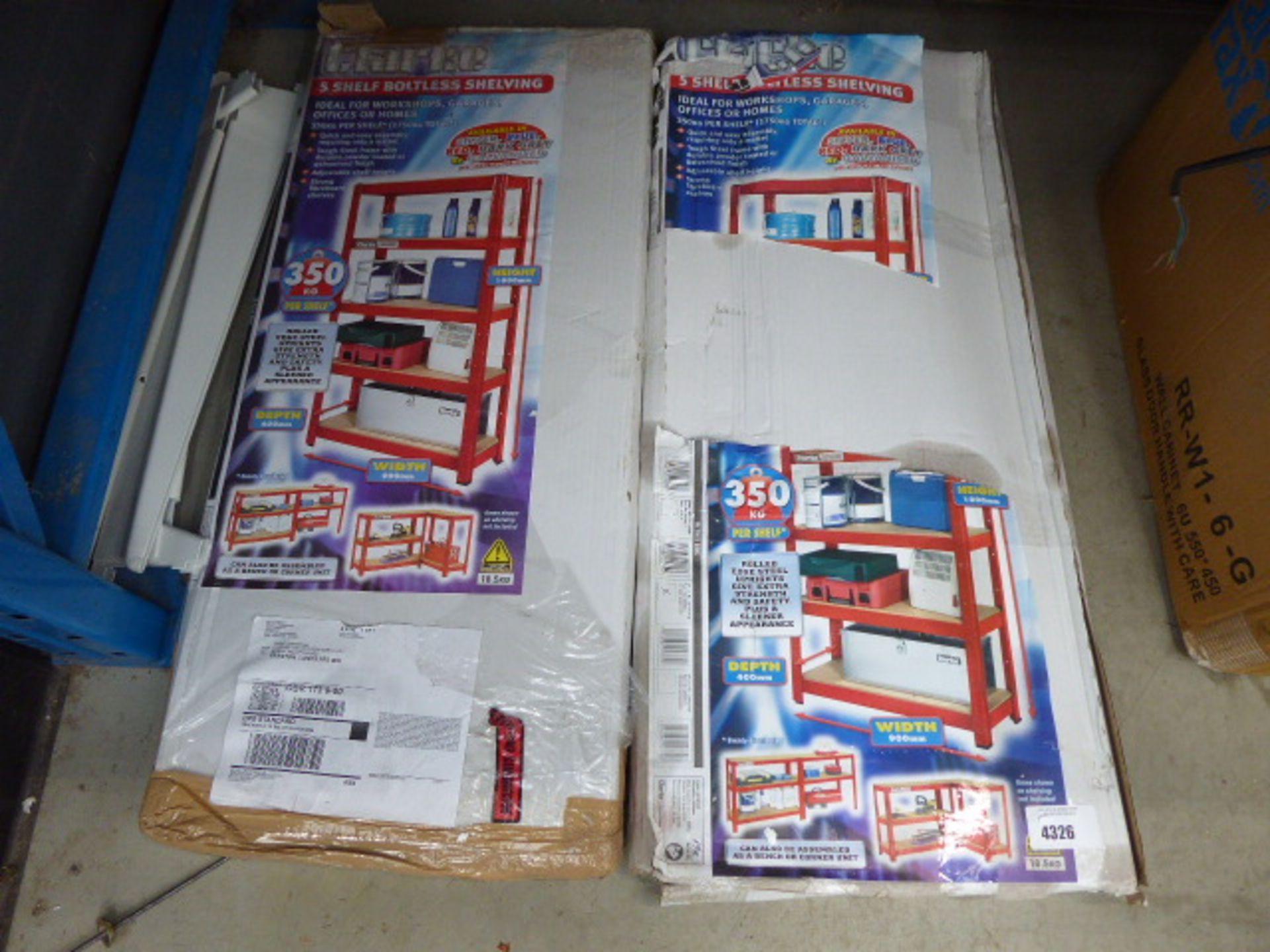 2 packs of flatpack racking