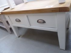 Hampshire White Painted Oak Coffee Table With Drawers (41)
