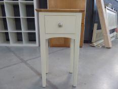 5065 Malvern Shaker Ivory Painted Oak Hall Table (60)