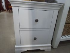 Florence White Painted Large Bedside Cabinet (65)