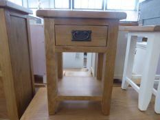 Rustic Oak 1 Drawer Small Lamp Table (39)