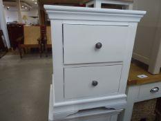 Florence White Painted Large Bedside Cabinet (64)