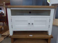 5015 Suffolk White Painted Oak Corner TV Unit (13)