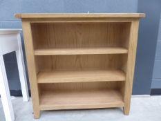5003 Rustic Oak Small Wide Bookcase (4)