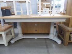 5089 Harrington Painted Oak 1.6m Extending Table (5)