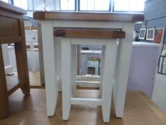 Chester White Painted Oak Nest of 2 Tables (21)