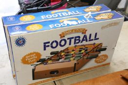 (1099) 2 boxed tabletop table footballs
