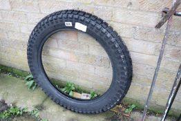 Mitas British League 3.75-19 spare tyre