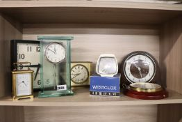 Collection of 7 clocks and barometers