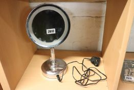 No. 7 illuminating and magnifying mirror with power supply