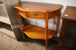 Yew 2 drawer side table