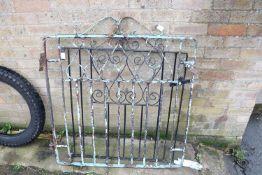 2 wrought iron garden gates