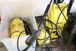 3 various Karcher pressure washers