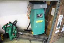 electric garden shredder and electric garden blow vac