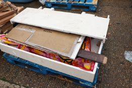 (1151) Marble fire surround and hearth on pallet
