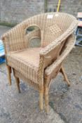 2 stacking wicker patio chairs