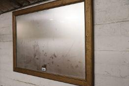 Gilt framed rectangular wall mirror