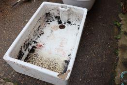 Large butler sink (some damage to near side corner)