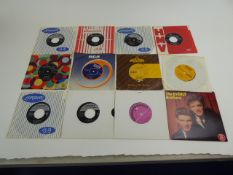 2 boxes of approx 200 7'' singles, some in picture sleeves from the 1950's and 1960's including